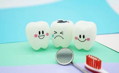 虫歯をイメージした写真
